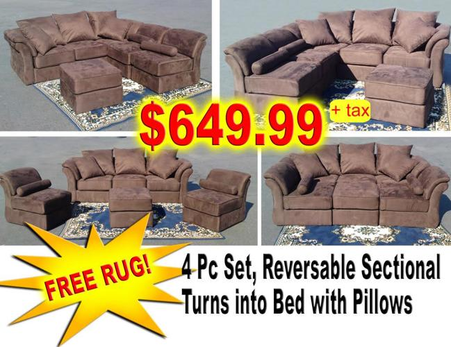 Reversabe Sectional Turns Into Bed Or Chair Chair Sofa
