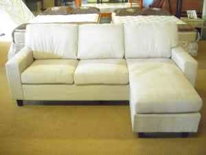 REVERSIBLE - MICRO-SUEDE SECTIONAL/SOFA WITH CHAISE -