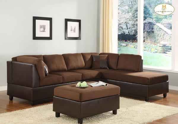 REVERSIBLE**MICROFIBER** SECTIONAL SOFA/COUCH WITH