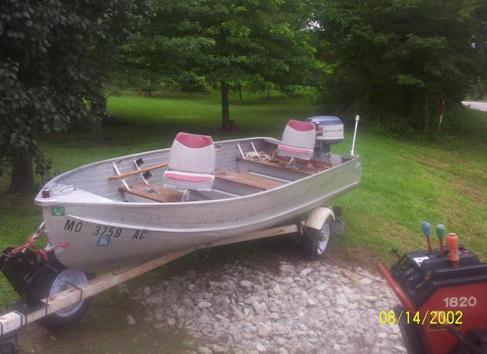 Rich Line Boat Evinrude Motor Trailer For Sale In Gray