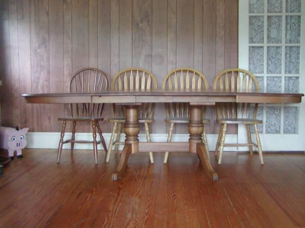 Richardson Bros Solid Oak Dining Room Table Seats 10 For Sale In Colonia