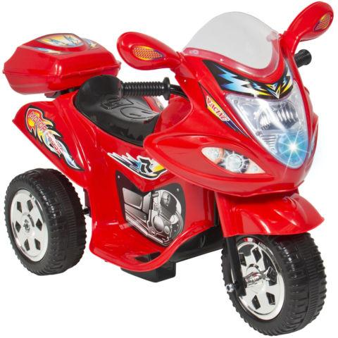 Ride On Motorcycle 6V Toy Battery Powered Electric 3 Wheel Power Bicyl