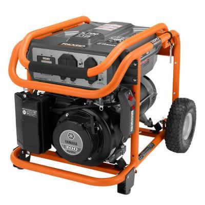 Ridgid 5 700 watt yamaha 301 cc gasoline powered portable for Yamaha generator for sale