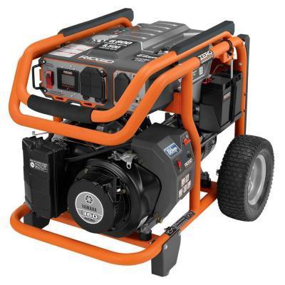 ridgid 6 800 watt yamaha 357 cc electric start idle down