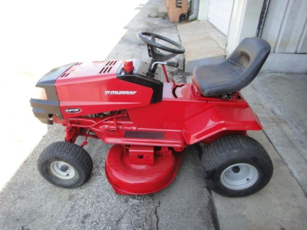 Murray Lawn Mowers New : Riding lawn mower by murray excellent condition work