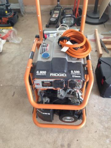 Rigid 6800 watt generator