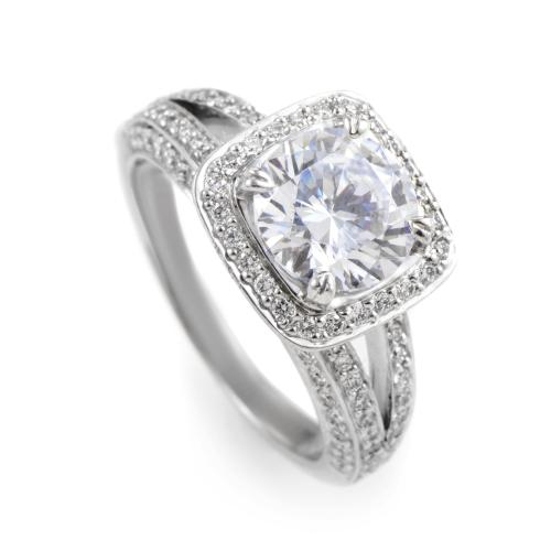 Ritani 18K White Gold Diamond Engagement Ring Mounting
