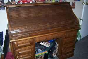 Riverside Oak Roll Top Desk White City For Sale In