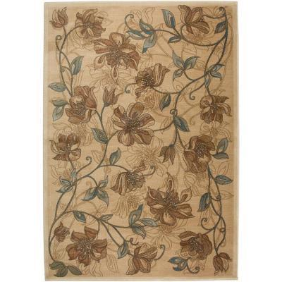 Rizzy Home Bellevue Honey Brown Floral 2 ft. 3 in. x 7