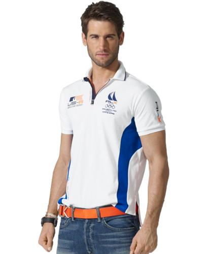 RLX Ralph Lauren Shirt, Short-Sleeved Sailing-Themed