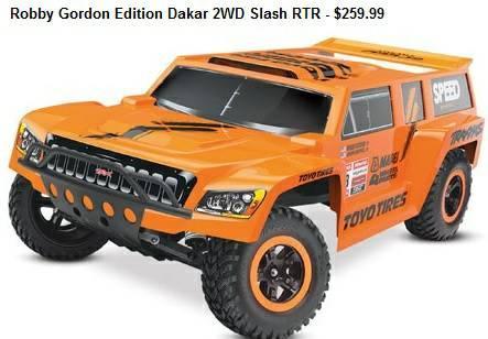 Robby Gordon Edition Dakar 2WD Slash RTR RC Truck at Friendly Hobbies - $259