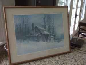 Robert Plum Sugar Shack signed print - $225 (Malta)