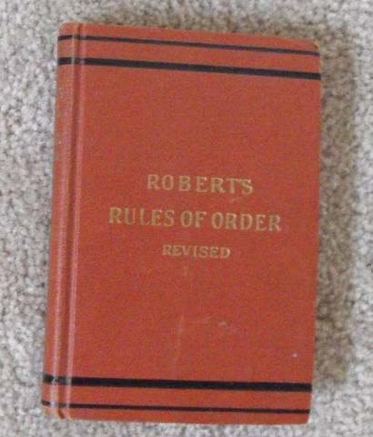 Robert's Rules of Order--Revised--1943