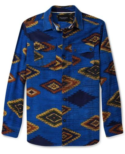 Rocawear Shirt, Long Sleeve Tribal Print Shirt