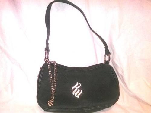 RocaWear Small Black Purse with Rhinestone Studded Logo - NICE!! for ... a13418e06f8ca