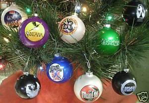 rock and roll christmas ornaments