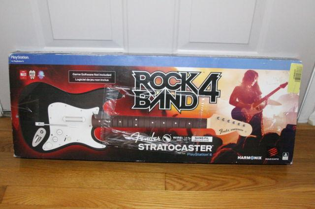 ROCKBAND 4 WIRELESS FENDER STRATOCASTER GUITAR FOR PS4 for