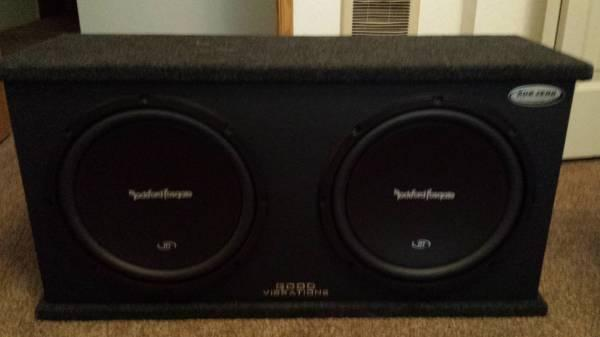 Rockford Fosgate Subs, Amp  Stereo - $500