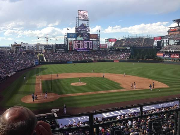 ROCKIES CLUB LEVEL TICKETS - August 23 vs Miami - $41