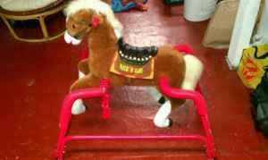 Rockin Rider Lightning Plush Animated Spring Horse - $50 Hermantown