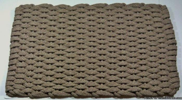 Rockport elegant flat braided hand woven rope door mats for Home decor 77429