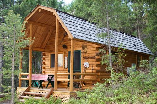 Rocky Mtn Log Cabin At Scenic Williams Lake Near Salmon