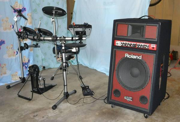 roland td 6v drum kit amp more for sale in springfield illinois classified. Black Bedroom Furniture Sets. Home Design Ideas