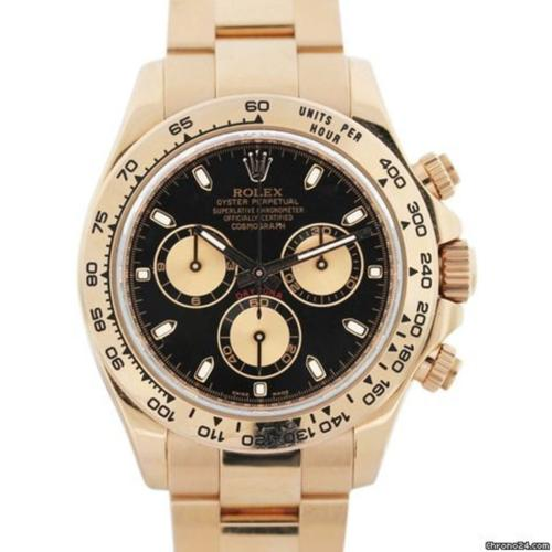 Rolex 116505 Daytona 18k Rose Gold Tachymeter Bezel