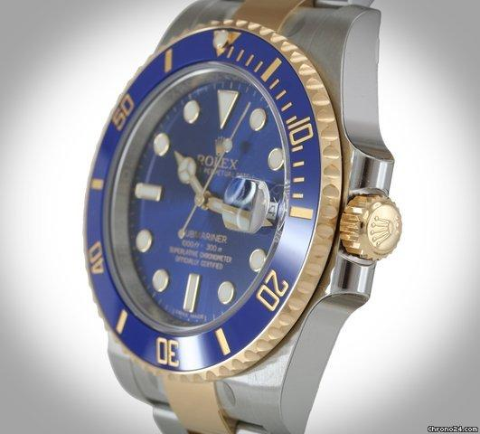 Rolex 116613LB Submariner Blue Ceramic Unworn