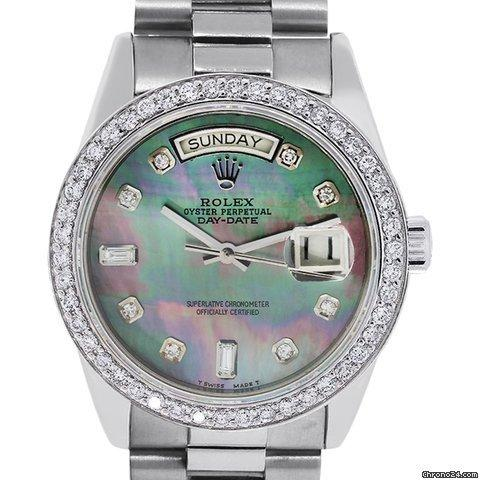 Rolex 18039 Presidential 18k Tahitian Mother Of Pearl