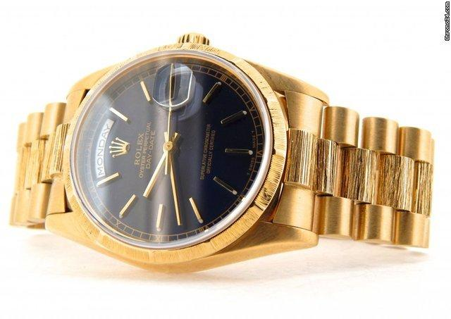 Rolex 18k Gold Day-date President Blue 18238