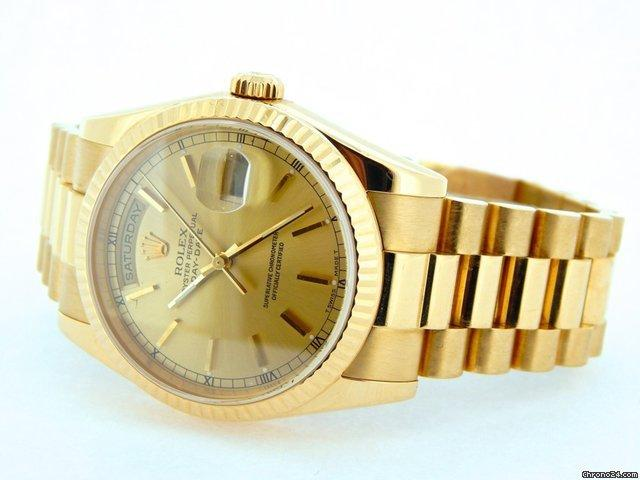 Rolex 18k Gold Day-date President Champagne 118238