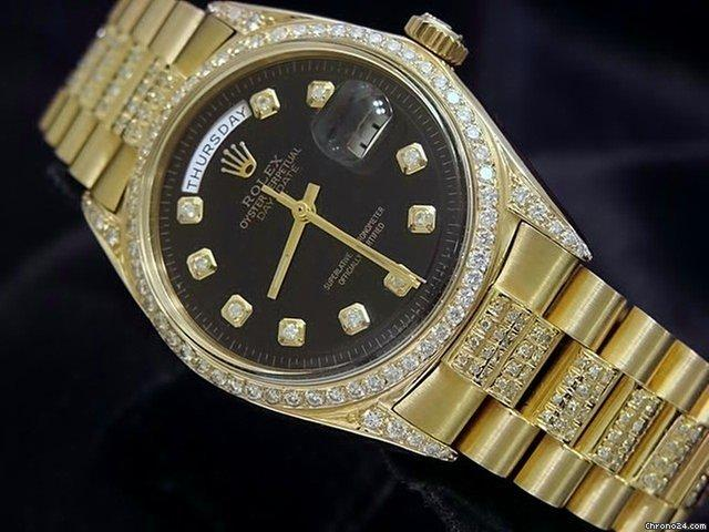 Rolex 18k Gold Day-date President Full Diamond 1803