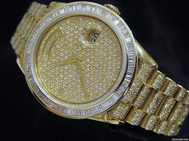 Rolex 18k Gold Day-date President Full Diamond 18038