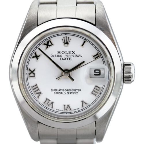 Rolex Date 79160 Stainless Steel White Roman Dial