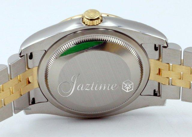 Rolex Datejust 116243 Mens 36mm White Mother of Pearl Diamond 18k Yellow Gold Stainless Steel J