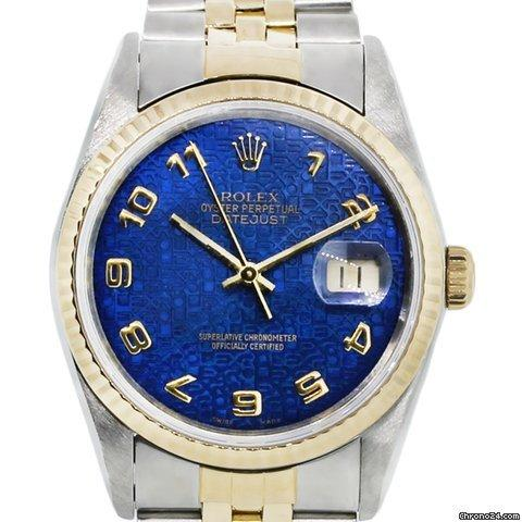 dc824b92a4f5 Rolex Datejust 16233 Two Tone Blue Dial Jubilee Watch for sale in Boca  Raton