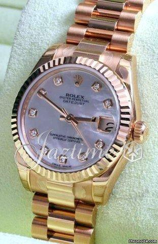 Rolex Datejust 178275 Ladies 31mm 18k Rose Gold Diamond Mother Of Pearl President 2015