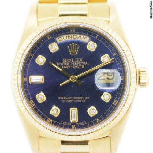 Rolex Day-Date 18038 Diamond Watch 18k Gold