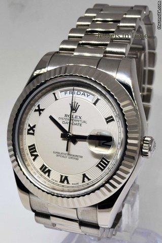 Rolex Day-Date II President 18k White Gold Roman Dial