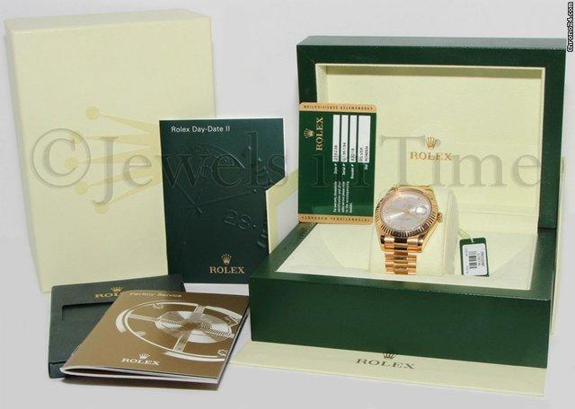 Rolex Day-Date II President 18k Yellow Gold Mens Watch