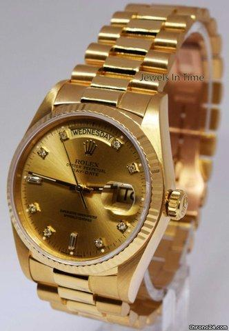 Rolex Day-Date President 18k Yellow Gold Champagne