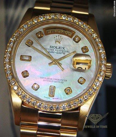 Rolex Day-Date President 18k Yellow Gold MOP Diamond