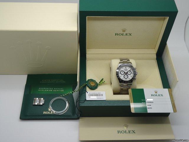 Rolex Daytona 116500 Stainless Steel Ceramic Bezel White Dial For