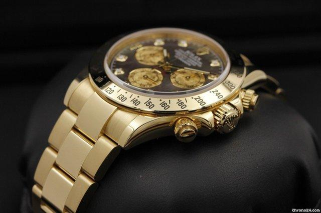 1bea57fedb3 Rolex Daytona - 116528 - Gold Crystal Diamond Dial - RANDOM Serial ...
