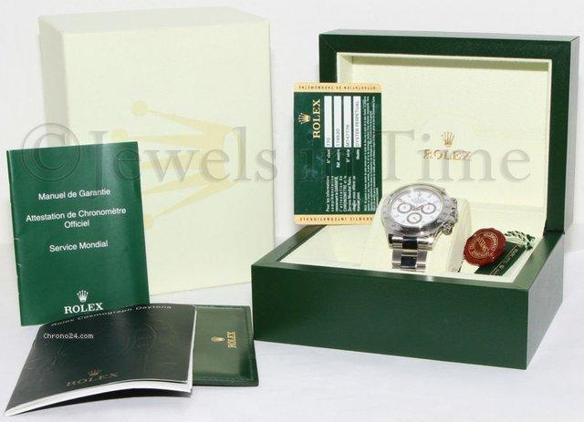 Rolex Daytona Chronograph Steel White Dial Mens Watch