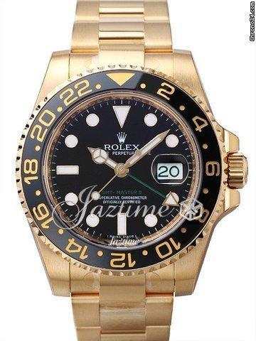 Rolex GMT Master II 116718LN 18k Yellow Gold Ceramic Black 116718 2016