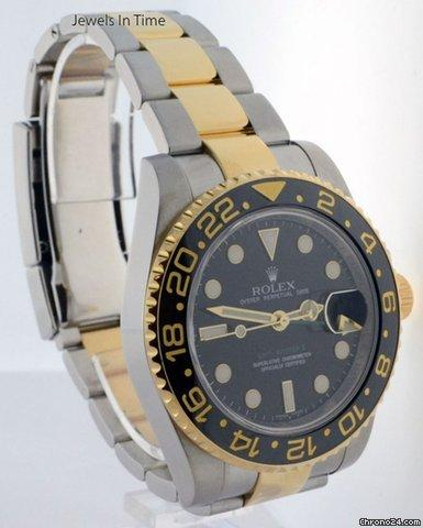 Rolex GMT-Master II 18k Steel Ceramic BoxPapers Mens Automatic Watch 116713