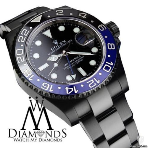 Rolex Gmt Master Ii Batman 116 Black Dial & Black And