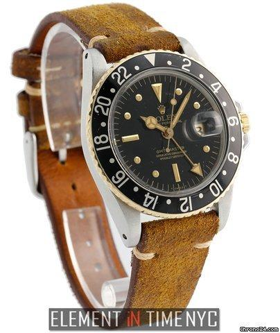 Rolex GMT-Master Vintage GMT-Master Steel  Gold Nipple Dial Circa 1966 Ref. 1675 Price On Request